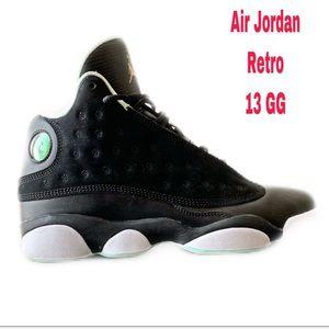 🚨🏀 Air Jordan Black Retro 13 GG Size 7